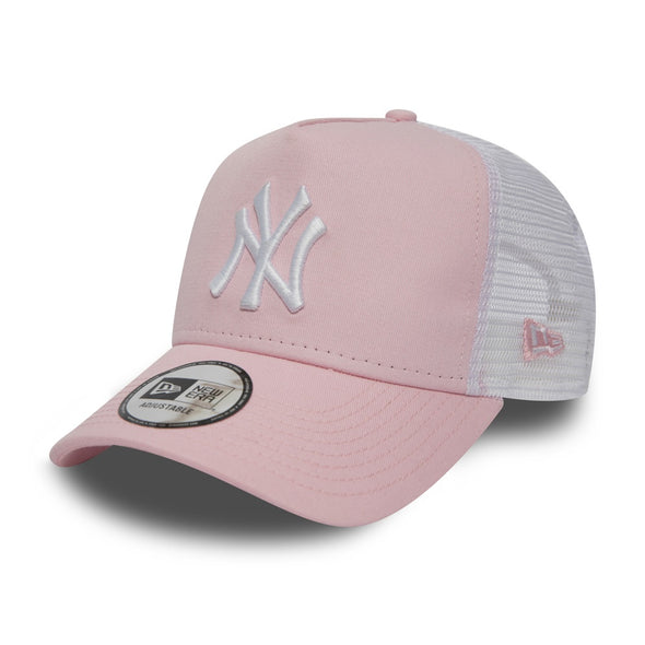 NEW ERA - NEW YORK YANKEES ESSENTIAL PINK A FRAME TRUCKER HAT from PeakNation.co.uk