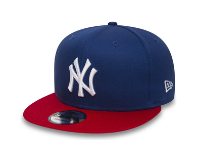 NEW ERA 9FIFTY SNAPBACK. COTTON BLOCK NEW YORK YANKEES. ROYAL/SCARLET. From PeakNation.co.uk