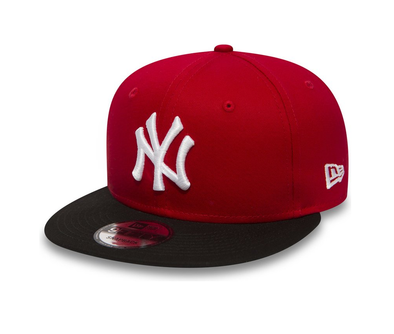NEW ERA 9FIFTY SNAPBACK. COTTON BLOCK NEW YORK YANKEES. SCARLET/BLACK. From PeakNation.co.uk