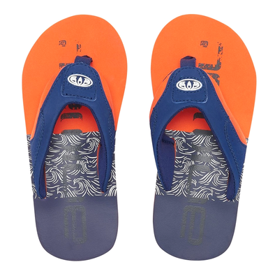 ANIMAL BOYS JEKYL LOGO FLIP FLOPS. FIRECRACKER ORANGE from peaknation.co.uk