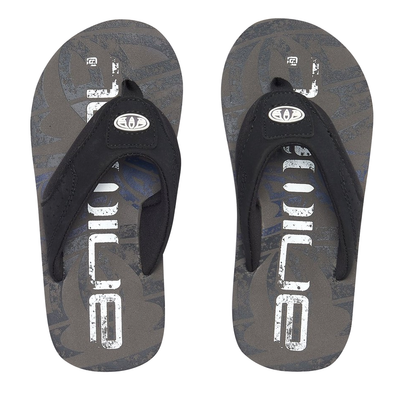 ANIMAL BOYS JEKYL LOGO FLIP FLOPS. CAST IRON GREY from peaknation.co.uk