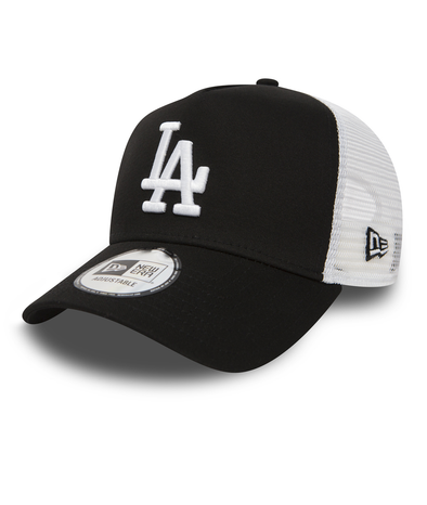 NEW ERA A FRAME TRUCKER CAP. LOS ANGELES DODGERS. BLACK