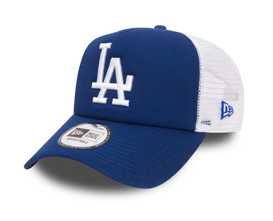 NEW ERA A FRAME TRUCKER CAP. LOS ANGELES DODGERS. BLUE