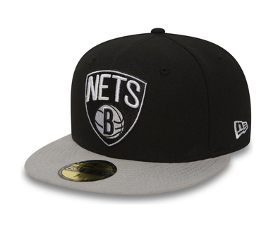 NEW ERA BROOKLYN NETS ESSENTIAL 59FIFTY FITTED CAP. BLACK from peaknation.co.uk