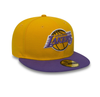 NEW ERA LOS ANGELES LAKERS ESSENTIAL 59FIFTY. YELLOW/PURPLE from peaknation.co.uk