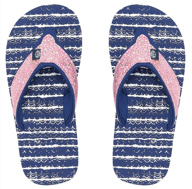 ANIMAL SWISH GLITZ GIRLS FLIP FLOPS. PATRIOT BLUE from peaknation.co.uk