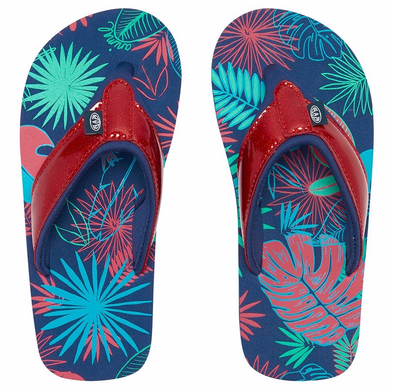 ANIMAL SWISH GLITZ GIRLS FLIP FLOPS. MULTICOLOUR from peaknation.co.uk