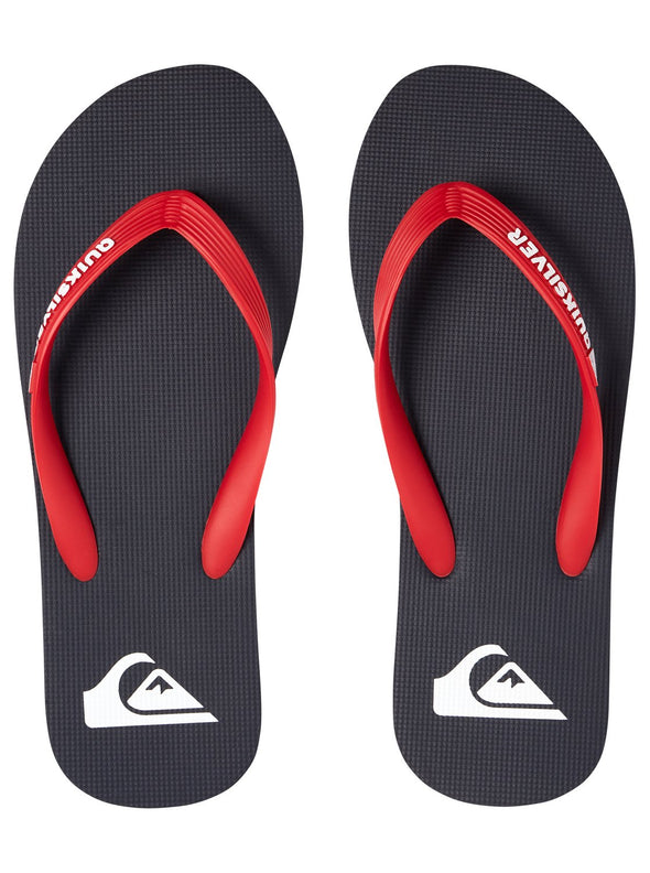"MENS QUIKSILVER ""MOLOKAI"" FLIP FLOPS. BLUE/RED/BLUE (xbrb) from peaknation.co.uk"