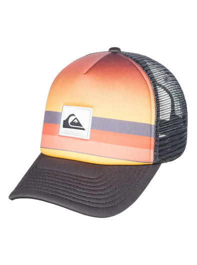 "BOYS QUIKSILVER ""SETS COMING"" TRUCKER CAP. IRON GATE (kzm0)"