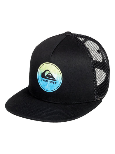 "BOYS QUIKSILVER ""BOMBASTIC"" TRUCKER CAP. BLACK (kvj0) from peaknation.co.uk"