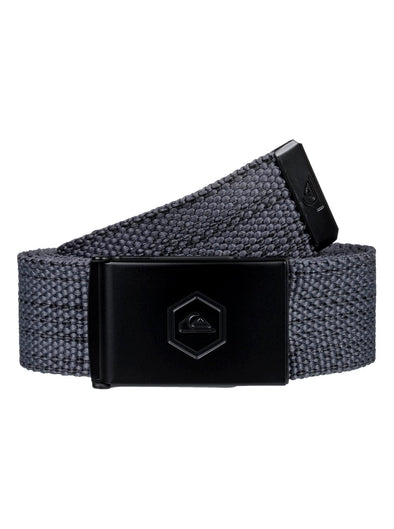 "MENS QUIKSILVER ""PRINCIPLE"" WEBBING BELT. MEDIUM GREY HEATHER from peaknation.co.uk"