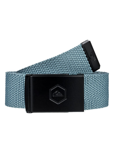 "MENS QUIKSILVER ""PRINCIPLE"" WEBBING BELT. BLUE NIGHTS HEATHER from peaknation.co.uk"