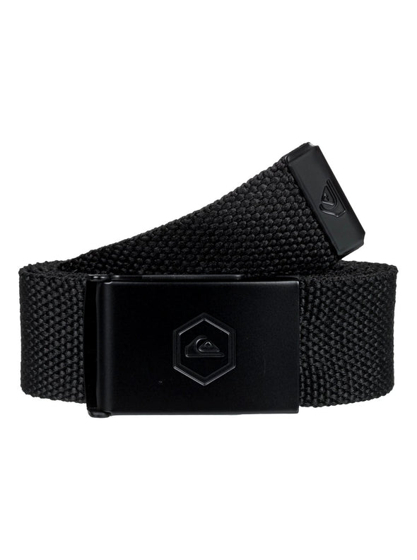 "MENS QUIKSILVER ""PRINCIPLE"" WEBBING BELT. BLACK (kvj0) from peaknation.co.uk"