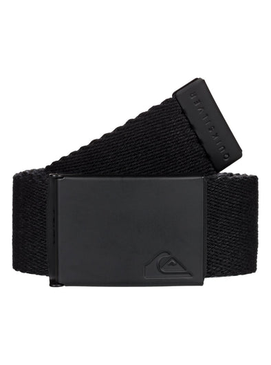 "MENS QUIKSILVER ""THE JAM"" REVERSIBLE WEBBING BELT. BLACK from peaknation.co.uk"