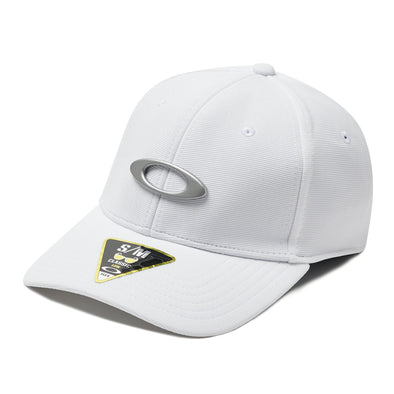 OAKLEY TINCAN CAP. WHITE/GREY from peaknation.co.uk