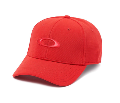OAKLEY TINCAN CAP. RED/BLACK from peaknation.co.uk