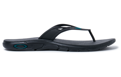 OAKLEY ELLIPSE FLIP. MENS FLIP FLOPS. BLACKOUT