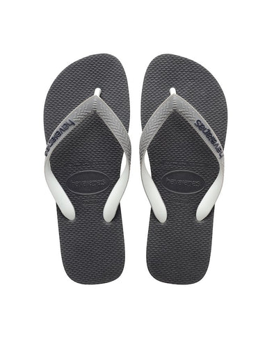 HAVAIANAS TOP MIX UNISEX/MENS/WOMENS FLIP FLOPS. GRAPHITE/GREY from peaknation.co.uk