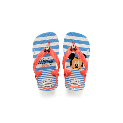 HAVAIANAS BABY DISNEY CLASSICS. WHITE/STRAWBERRY from peaknation.co.uk