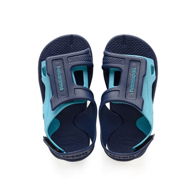 HAVAIANAS KIDS MOVE SANDALS. NAVY BLUE from peaknation.co.uk