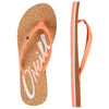 O'NEILL LOGO CORK SANDALS. WOMENS FLIP FLOPS. NEON PEACH from peaknation.co.uk