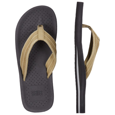 O'NEILL PUNCH CANVAS SANDALS. MENS FLIP FLOPS. ASPHALT