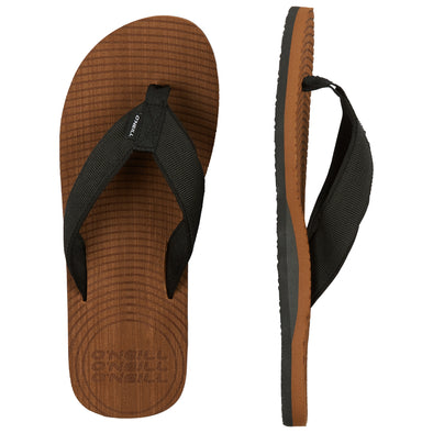 O'NEILL KOOSH SLIDE SANDALS. MENS FLIP FLOPS. TOBACCO BROWN from peaknation.co.uk