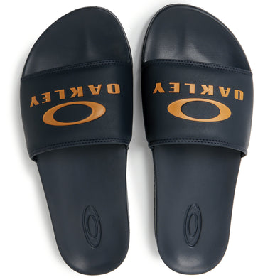 OAKLEY ELLIPSE SLIDE. MENS SLIDERS. DARK BLUE from peaknation.co.uk