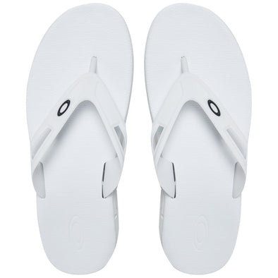 OAKLEY ELLIPSE FLIP. MENS FLIP FLOPS. WHITE from peaknation.co.uk
