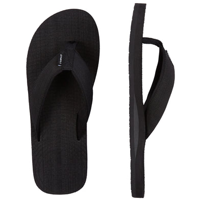 O'NEILL KOOSH SLIDE SANDALS. MENS FLIP FLOPS. BLACK OUT from peaknation.co.uk