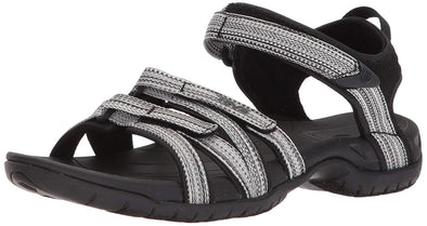 TEVA 'TIRRA' WOMENS SANDALS. BLACK/WHITE MULTI from peaknation.co.uk
