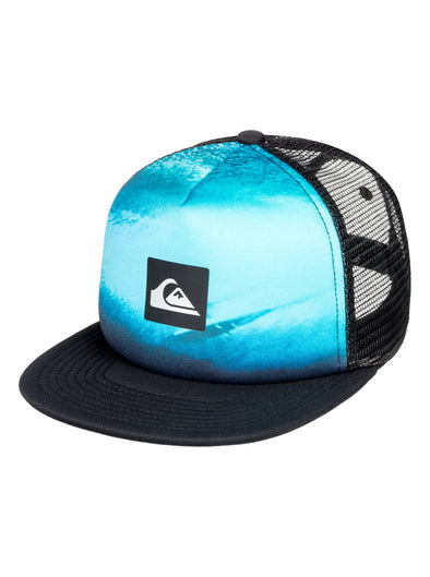 BOYS QUIKSILVER 'VISIONAIRRE' TRUCKER CAP. BLACK from peaknation.co.uk
