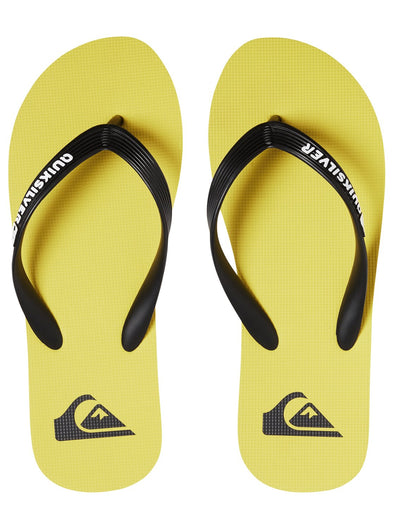 "QUIKSILVER ""MOLOKAI"" MENS FLIP FLOPS. BLACK/YELLOW/YELLOW (xkyy) from peaknation.co.uk"