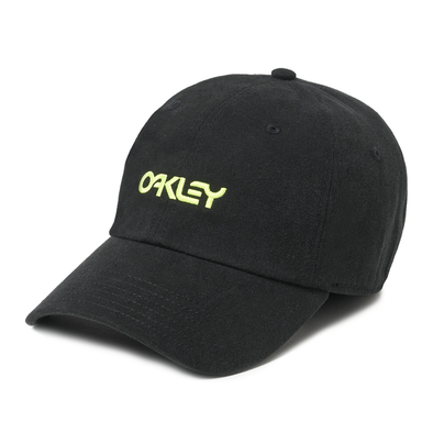 OAKLEY 6 PANEL WASHED COTTON HAT. BLACKOUT