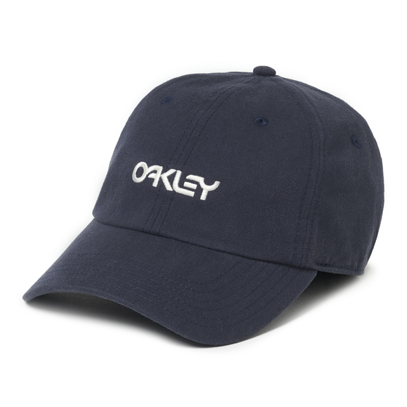 OAKLEY 6 PANEL WASHED COTTON HAT. FATHOM from peaknation.co.uk
