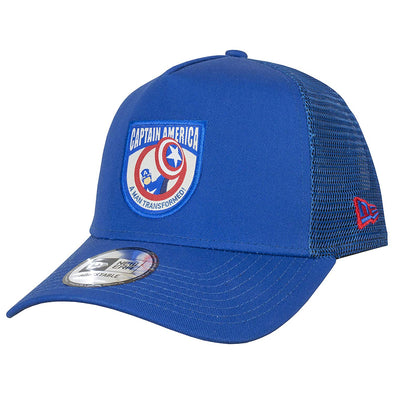 NEW ERA 9FORTY A FRAME TRUCKER. CHARACTER PATCH. CAPTAIN AMERICA