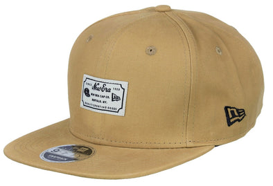 NEW ERA SCRIPT PATCH 9FIFTY SNAPBACK. CAMEL from peaknation.co.uk