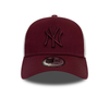 NEW ERA WOMENS ESSENTIAL TRUCKER. NEW YORK YANKEES. MAROON from peaknation.co.uk