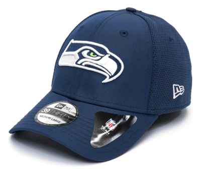 NEW ERA FEATHERWEIGHT 39THIRTY FITTED CAP. SEATTLE SEAHAWKS. NAVY