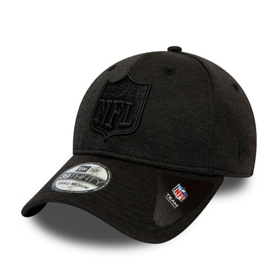 NEW ERA SHADOW TECH 39THIRTY FITTED CAP. NFL SHIELD. BLACK from peaknation.co.uk