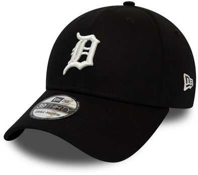 NEW ERA LEAGUE ESSENTIAL 39THIRTY FITTED CAP. DETROIT TIGERS. BLACK/WHITE from peaknation.co.uk