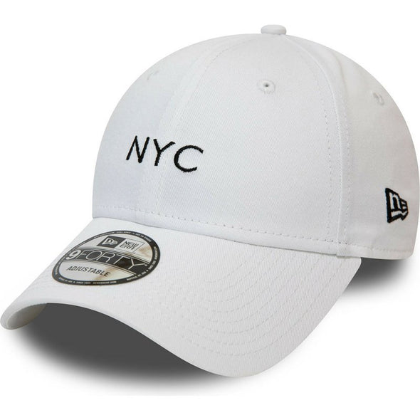 NEW ERA NYC SEASONAL 9FORTY STRAPBACK CAP. WHITE from peaknation.co.uk