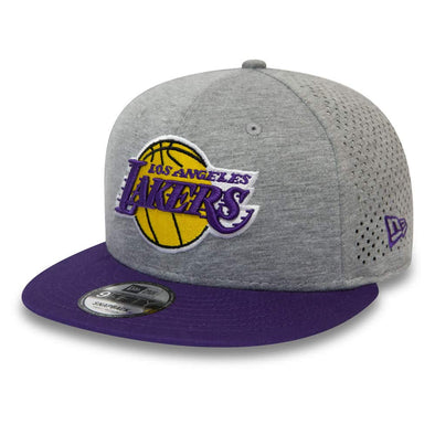 NEW ERA SHADOW TECH 9FIFTY SNAPBACK NBA CAP. LOS ANGELES LAKERS. GREY from peaknation.co.uk