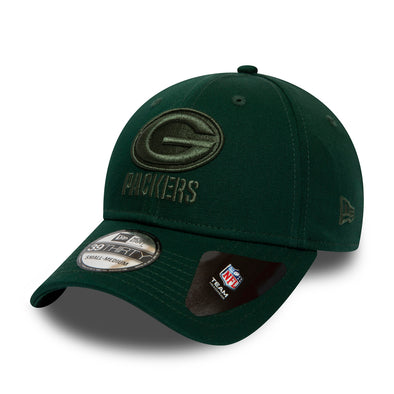NEW ERA TEAM TONAL 39THIRTY FITTED NFL CAP. GREEN BAY PACKERS. GREEN from peaknation.co.uk