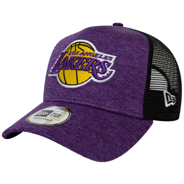 NEW ERA SHADOW TECH ADJUSTABLE TRUCKER CAP. LOS ANGELES LAKERS. PURPLE from peaknation.co.uk