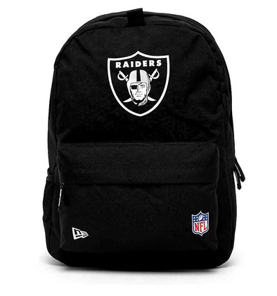 NEW ERA NFL STADIUM BACKPACK. OAKLAND RAIDERS. BLACK OFFICIAL TEAM COLOURS from peaknation.co.uk