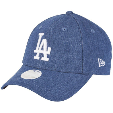 NEW ERA WOMENS DENIM WASHED 9FORTY CAP. LOS ANGELES DODGERS. BLUE from peaknation.co.uk