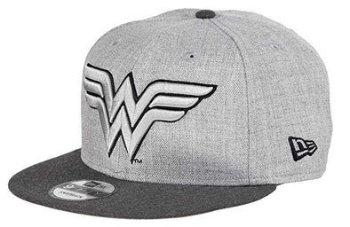 NEW ERA 9FIFTY WONDER WOMEN SNAPBACK CAP. HEATHER GRAPHITE from peaknation.co.uk
