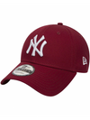 NEW ERA LEAGUE ESSENTIAL 9FORTY CAP. NEW YORK YANKEES. CARDINAL RED