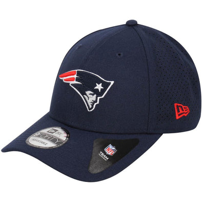 NEW ERA POLYESTER PERFORATED 9FORTY CAP. NEW ENGLAND PATRIOTS. NAVY from peaknation.co.uk